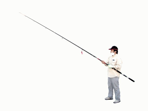 Kamikaze surf stik 14 ft 3pc surf fishing rod for Surf fishing pole