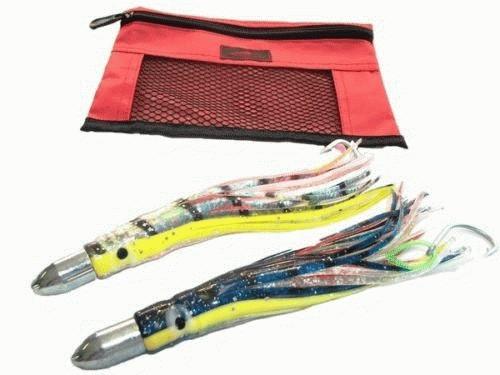 Kamikaze bullet head set of 2 180mm rigged w bag 20 ebay for Rigged fishing backpack