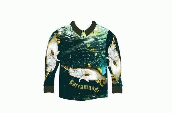 Kamikaze barramundi fishing shirt 4xl ebay for 4xl fishing shirts