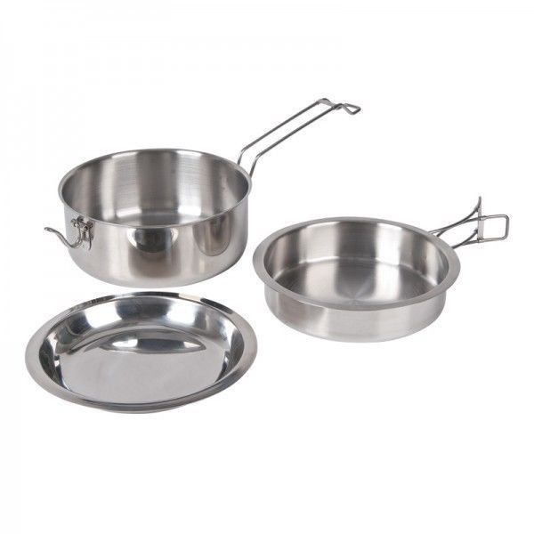 Stainless Steel Scout S Cooking Set Kookaburra