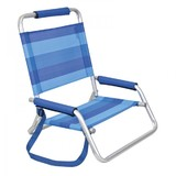 Hi Back Beach Chair Blue