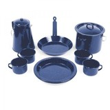 11 Piece Enamel Cook Set